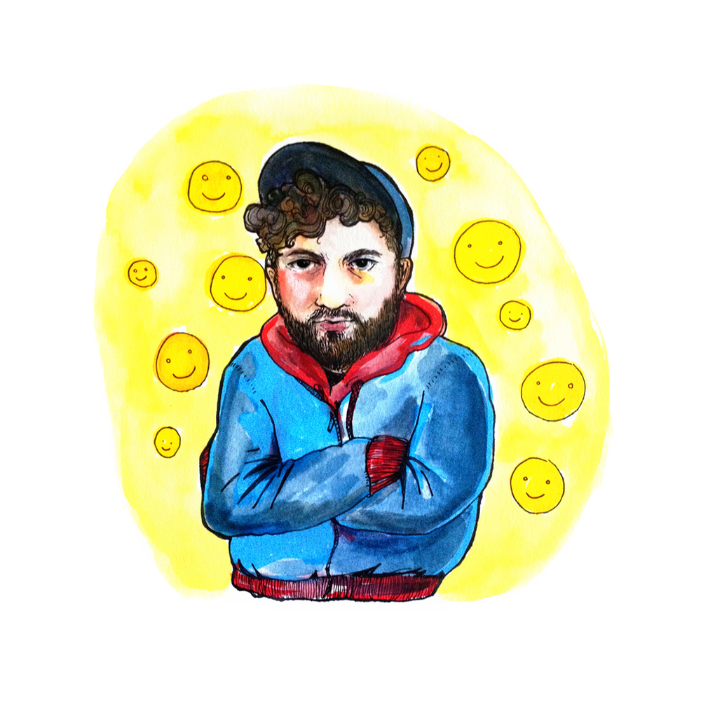Illustration of Rich Jones for HOIST, a Chicago online journal and art collective.