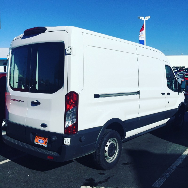 My brand-new Ford Transit van.