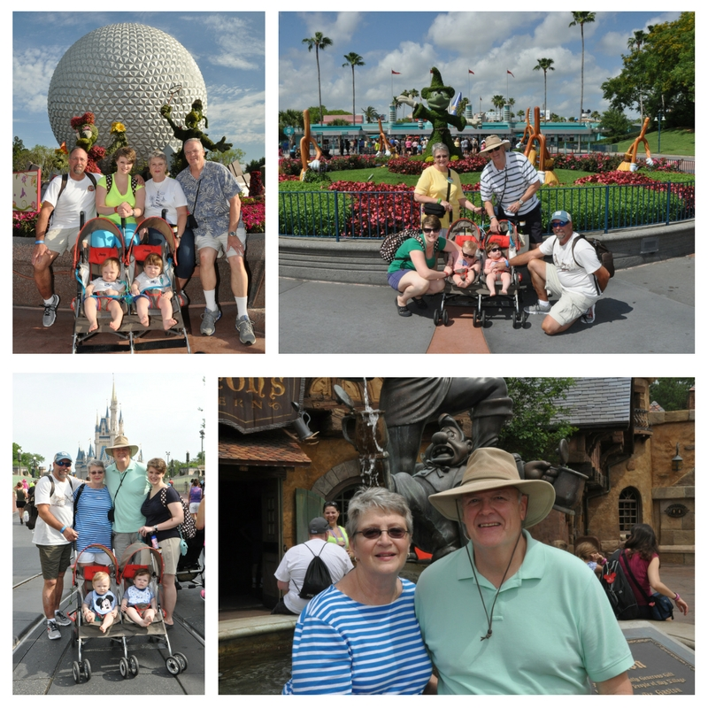 Take the grandparents!  They love watching your kiddos and have a great time themselves.  My mom and dad are big Disney fans so they were not hard to convince.