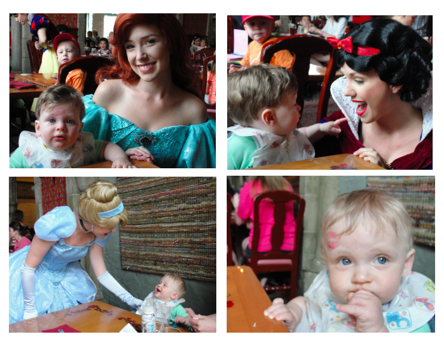 What is cuter than little boys being kissed by the Disney Princesses? I mean, really!?!?