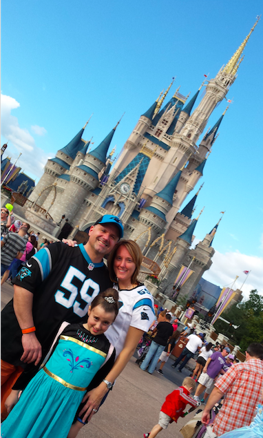 Rachele C. and her family enjoying a Day at  Magic Kingdom®    Park
