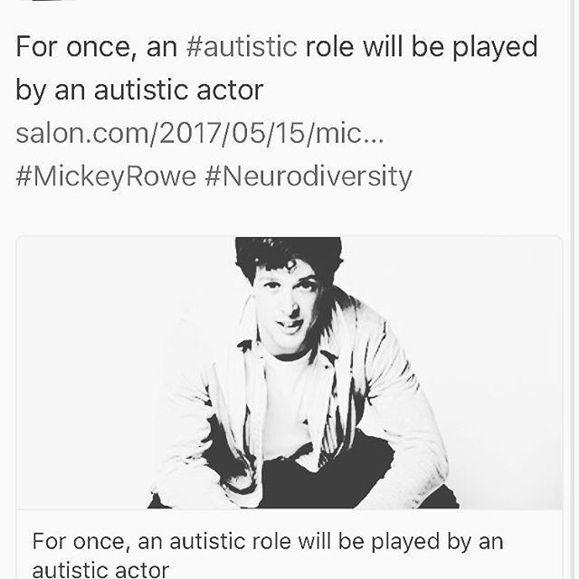 Actor with autism Mickey Rowe will be performing in the play The Curious Incident of the Dog in the Night Time this summer! Major steps toward neurodiversity in theatre 🙌 #autismacting #embraceautism #theatrediversity #neurodiversityrocks