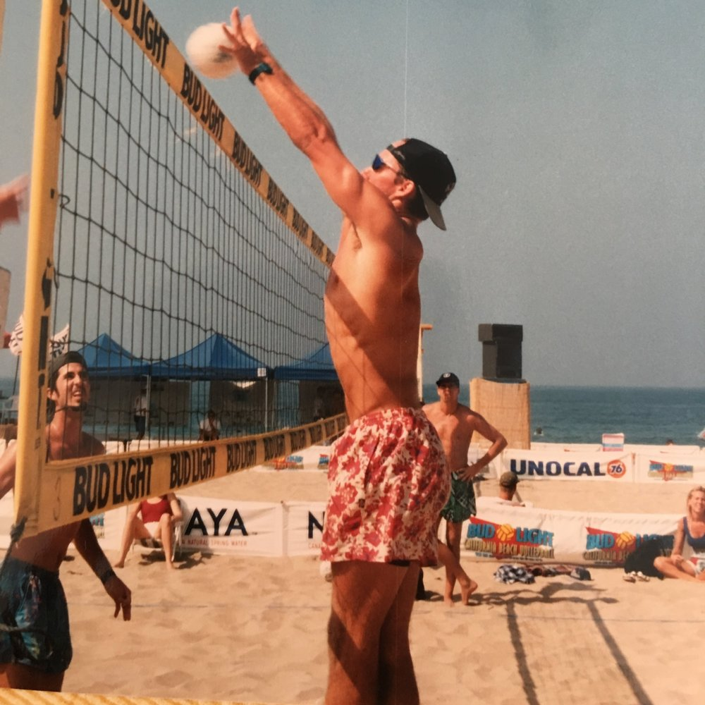Playing against Todd Rodgers in a CBVA - 1995