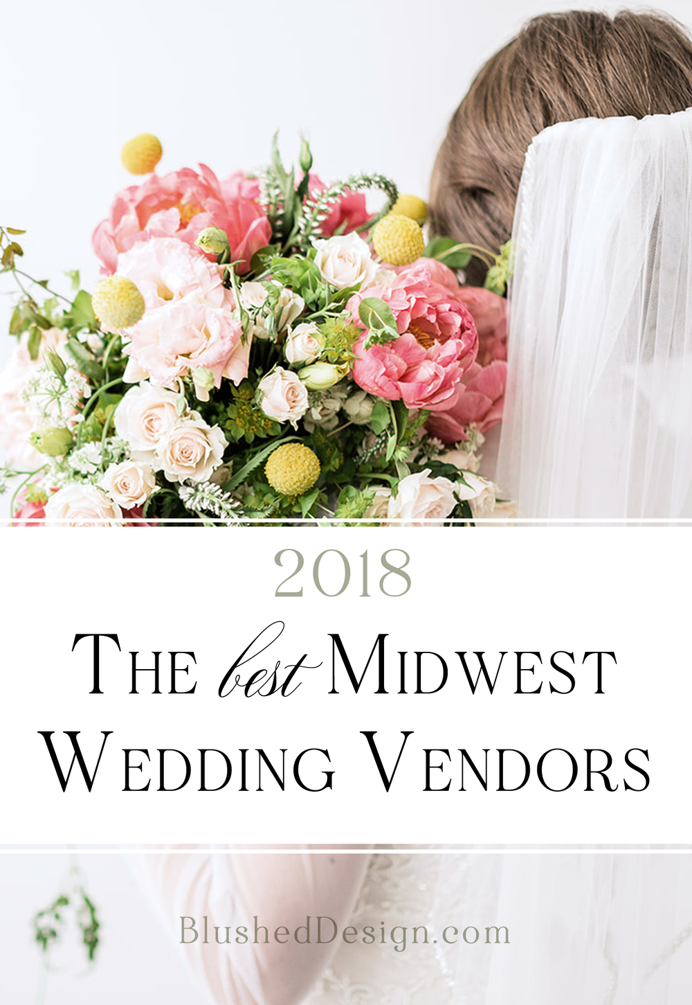 Find the Top Midwest Wedding Vendors for 2018.  A complete list by wedding professional, Katrina Crouch, the artist behind Blushed Design: Wedding Invitations and Fine Art Portraits