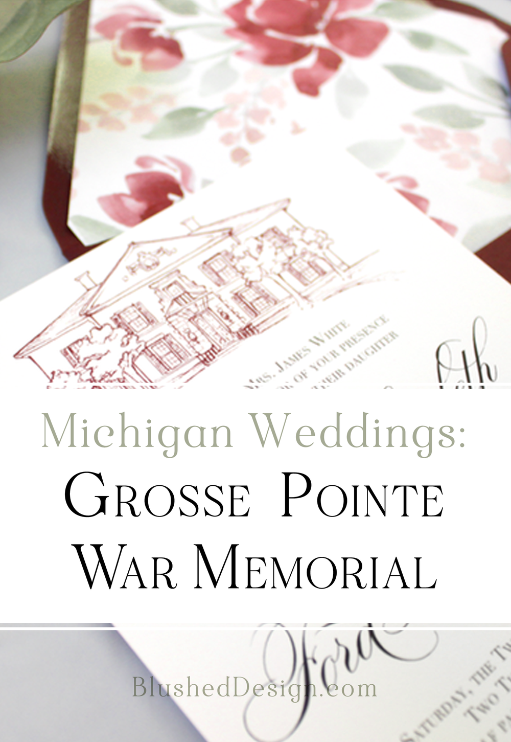 Michigan Wedding Venues : Grosse Pointe War Memorial | Blushed Design, Wedding Invitations and Fine Art Portraits