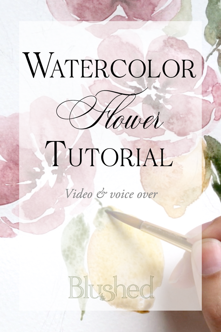Watercolor Tutorial How To Paint Flowers For Beginners Blushed Design