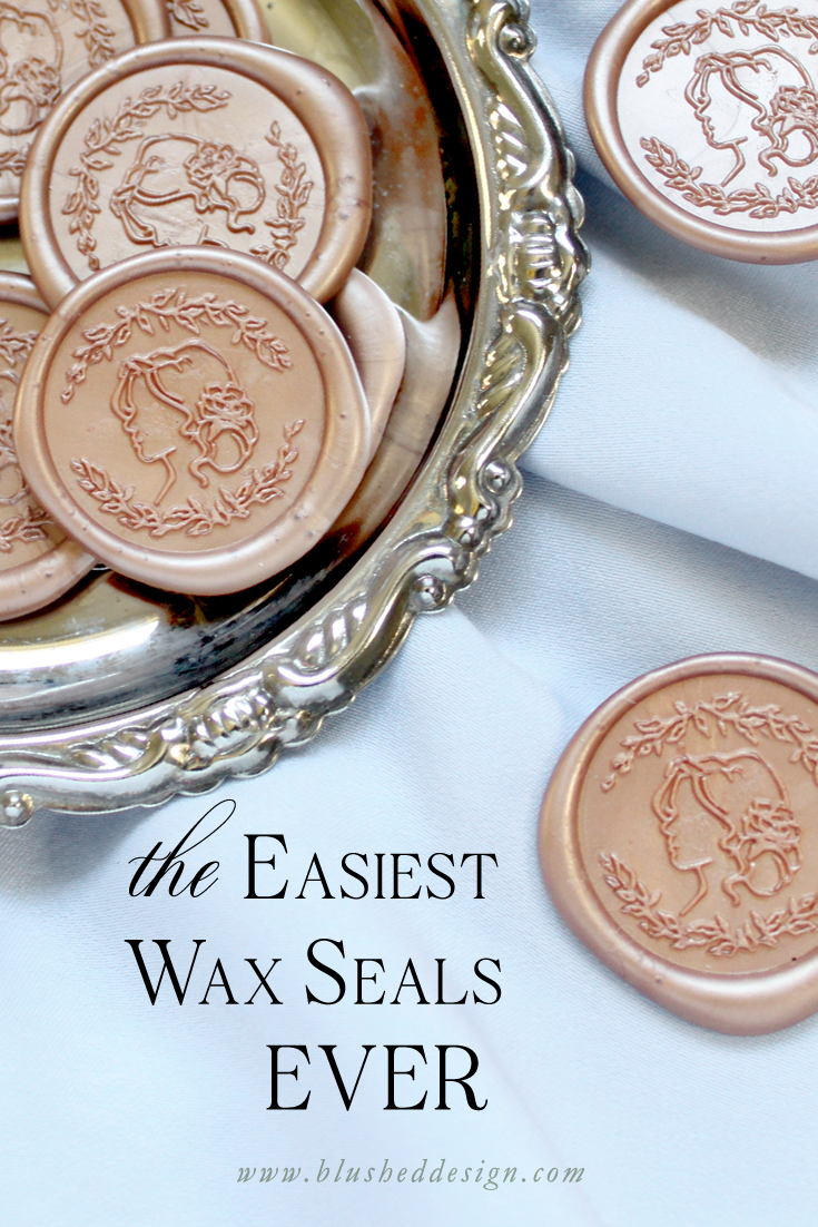 The easiest wax seals ever! Self adhesive wax seals make adding the beauty of a wax seal hastle free—follow these tips to find the perfect design and style for your project. Blushed Design: Fine art design with a fresh twist  #waxseals #weddinginvitations #waxseal