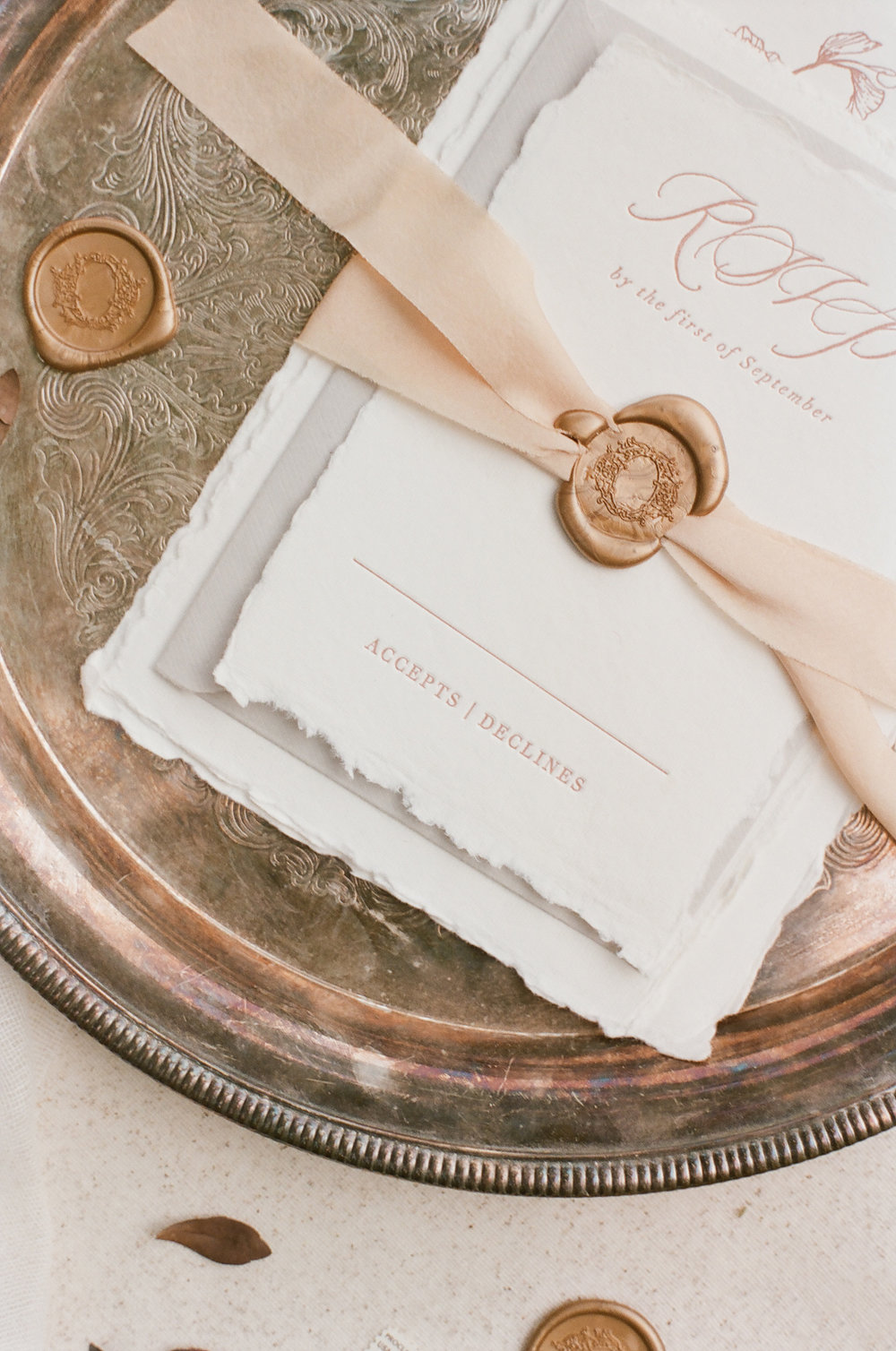 This wax seal design is so unique!  I love the intricate details!  Perfect for a fine art wedding invitaiton suite.  Find out more about this design and a few more favorite wax seal stamp designs by OTHER industry pros in my latest blog post! www.BlushedDesign.com #waxseals #waxsealstamp #theartisaireway #artisaire