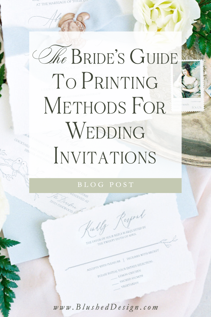 What's the difference between letterpress, flat and metalic foil printing, anyway?  And which one can I afford to use fo rmy wedding invitations? Professional stationer, Katrina, breaks it down for you and shares her best tips and tricks. #weddinginvitations #weddinginspiration