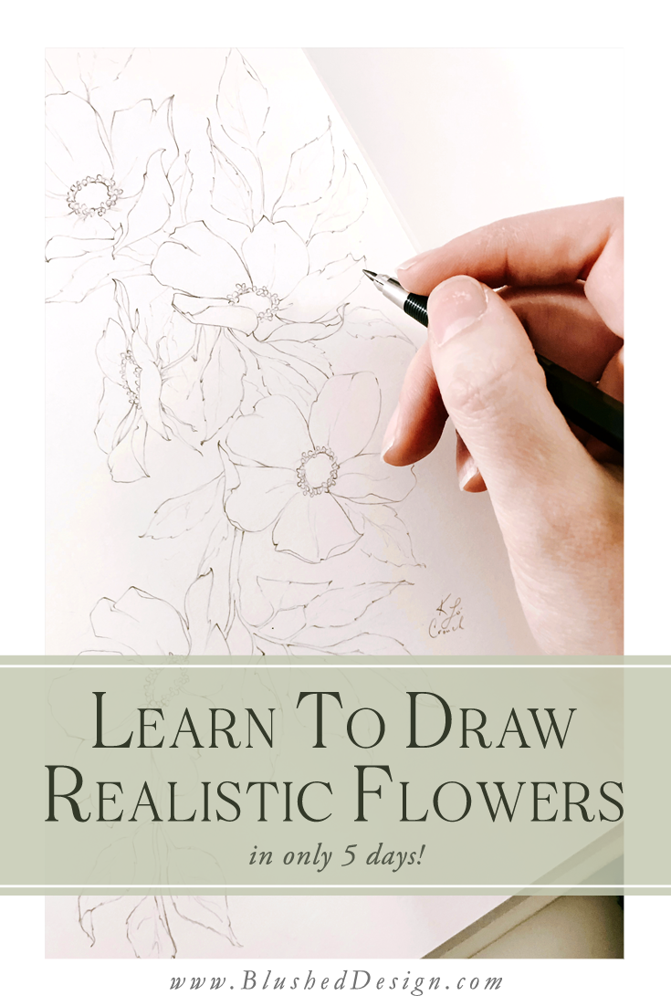 You've been dreaming of drawing realistic flowers for ages, but you can't seem to make it work out unless you're tracing or copying someone else's artwork! Learn how to draw realistic flowers in this 5 day drawing challenge, where I'll share my favorite drawing secrets with you! #floraldrawingchallenge #howtodraw #howtodrawflowers #floralillustrations