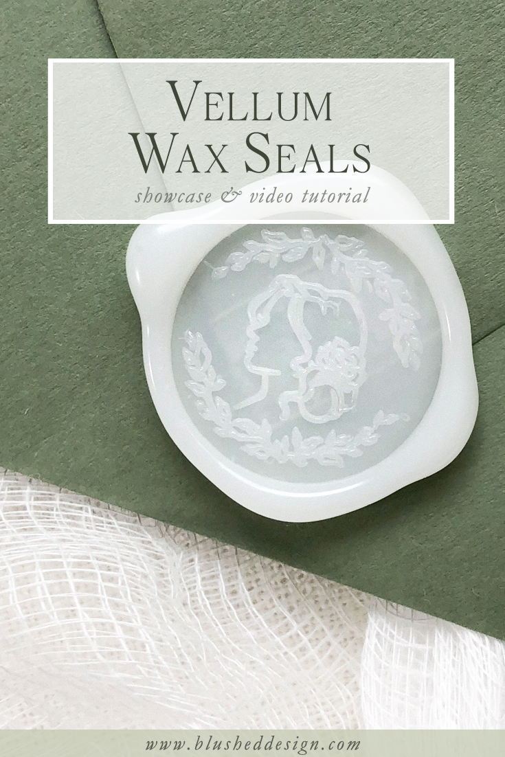 Vellum is huge in the wedding industry right now and these vellum wax seals are the icing on the cake if you are in love with that layered effect! Click to watch a full video tutorial on the quirks and some of my favorite uses for these unique wax seals!   #waxseals #uniquewaxseal #weddinginspiration #weddinginvitations #fineartwedding #artisaire