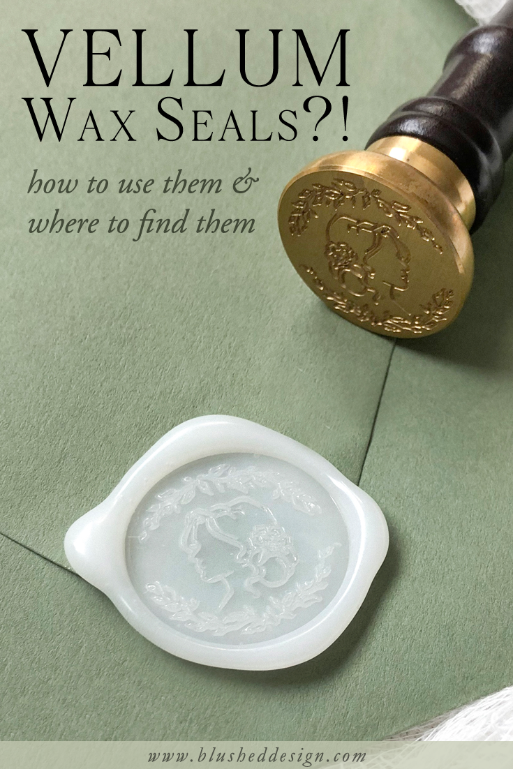 You've seen vellum wedding invitations and fallen in love, but have you seen these beautiful vellum WAX SEALS??  They are breathtakingly beautiful, but they have a few quirks of your own—watch this video tutorial to find out where to get your own and how to use them for your wedding invitations! #vellum #vellumweddinginvitations #weddinginvitations #waxseals #uniquewaxseals #fineartwedding