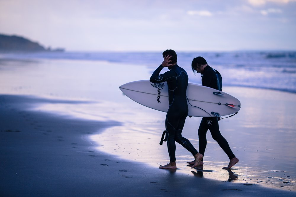 Learn to surf together and enjoy nature. Come to know one another as friends too.
