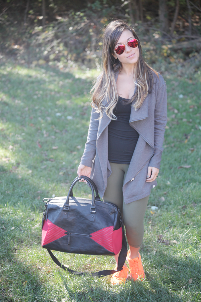 Take a look at how fashion, lifestyle, and beauty blogger Little Tree Vintage styles athleisure workout gear that takes you from the gym to errands.