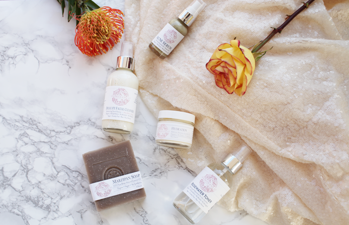 Fashion, lifestyle, and beauty blogger Little Tree vintage shares her All Natural Skin Care Routine and each product used.