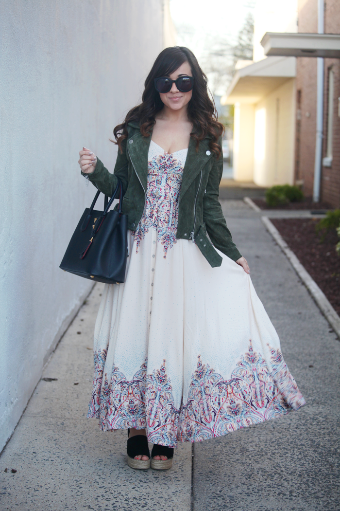 Boho meets edgy in this easy to style Spring dress from fashion, lifestyle, and beauty blogger Little Tree Vintage.