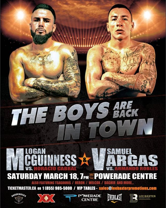 Loading in for MCGUINNESS vs VARGAS in Toronto Canada