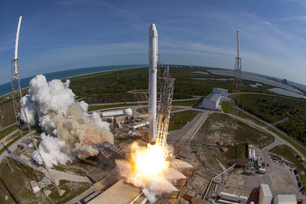 CRS-8 launches from Cape Canaveral Air Force Station's Launch Complex 40. Photo Credit: SpaceX