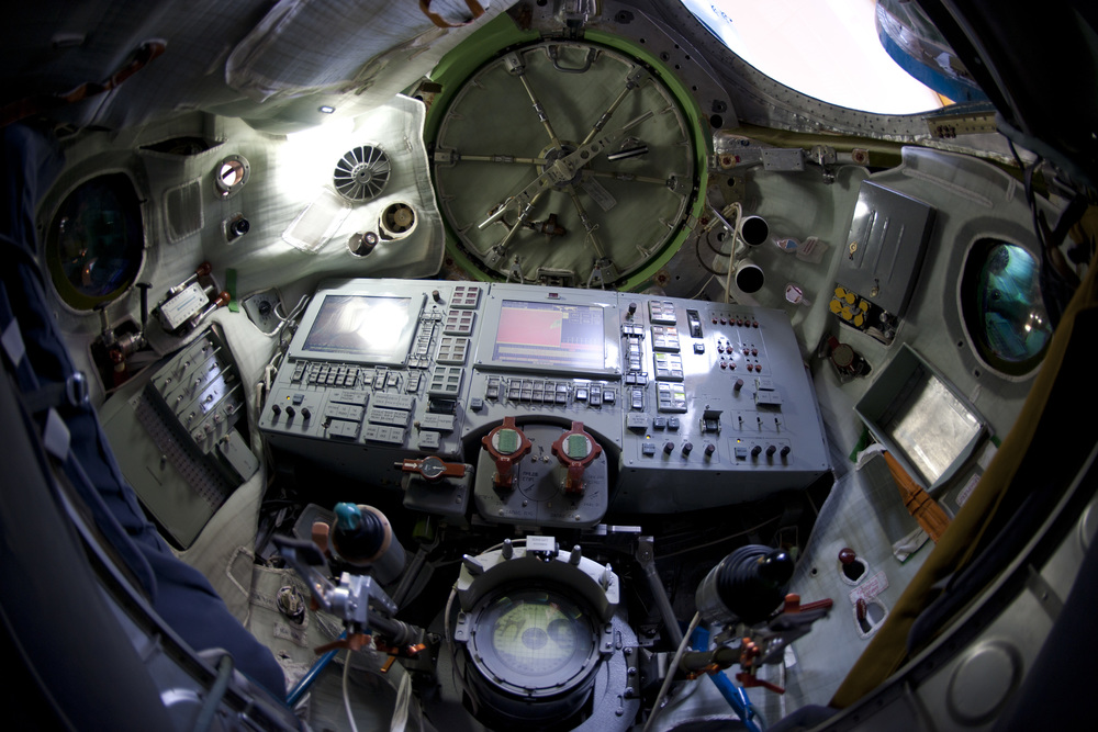 An interior view of the inside of a Soyuz. Photo Credit: S. Corvaja / ESA
