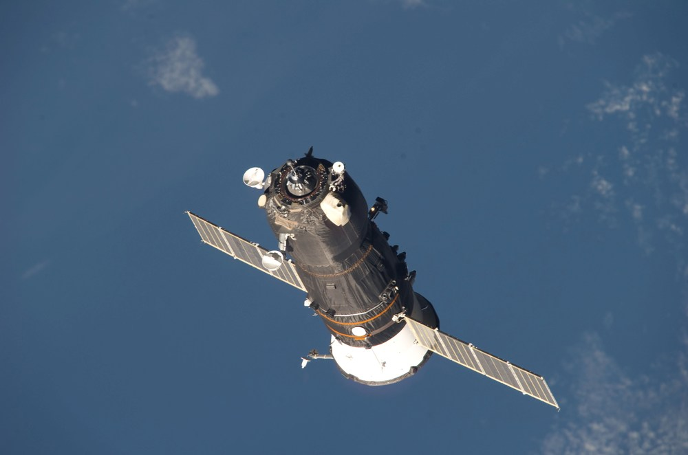 A Progress departing the International Space Station. Photo Credit: NASA