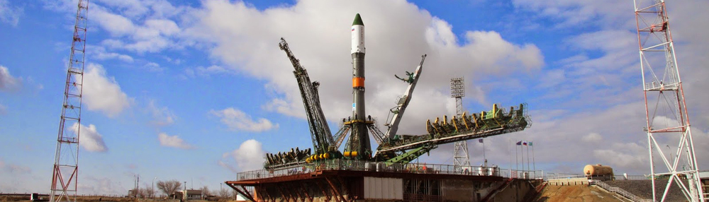 A Soyuz 2.1a rocket stands ready to launch a Progress spacecraft. Photo Credit: NASA