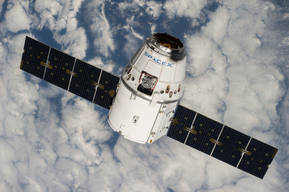Dragon approaches the International Space Station from below. Photo Credit: NASA