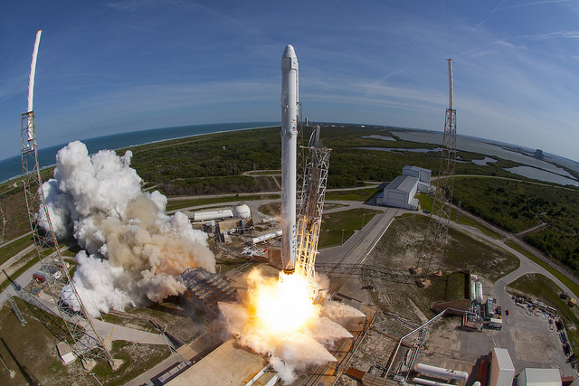 Dragon launches atop a Falcon 9 rocket. Photo Credit: SpaceX