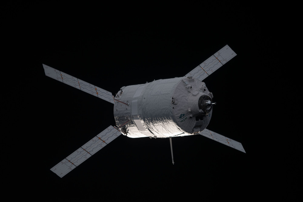 ATV departs ISS, on its way for a fiery destruction over the Pacific Ocean. Photo Credit: NASA