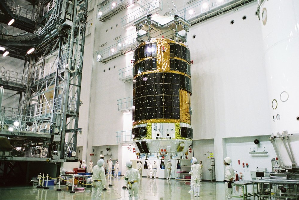A Kounotori being processed in Japan. Photo Credit: JAXA