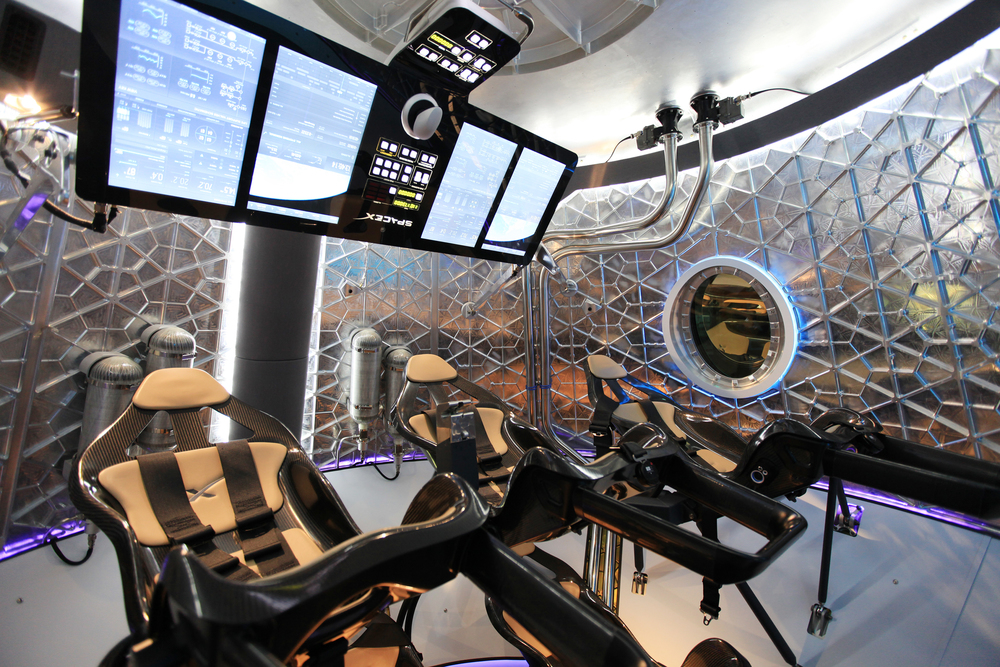 The interior of Crew Dragon. Photo Credit: SpaceX