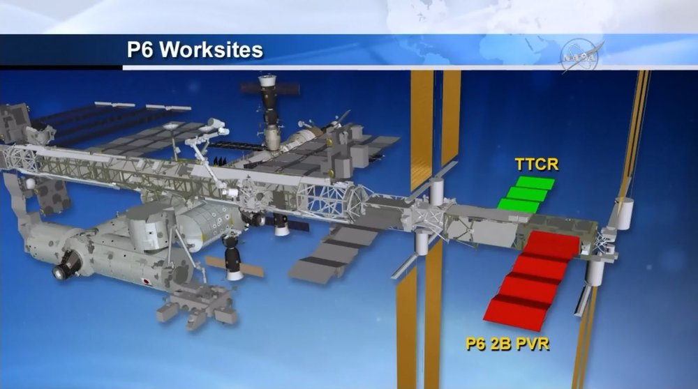 A graphic showing where the TTCR is located. Image Credit: NASA TV