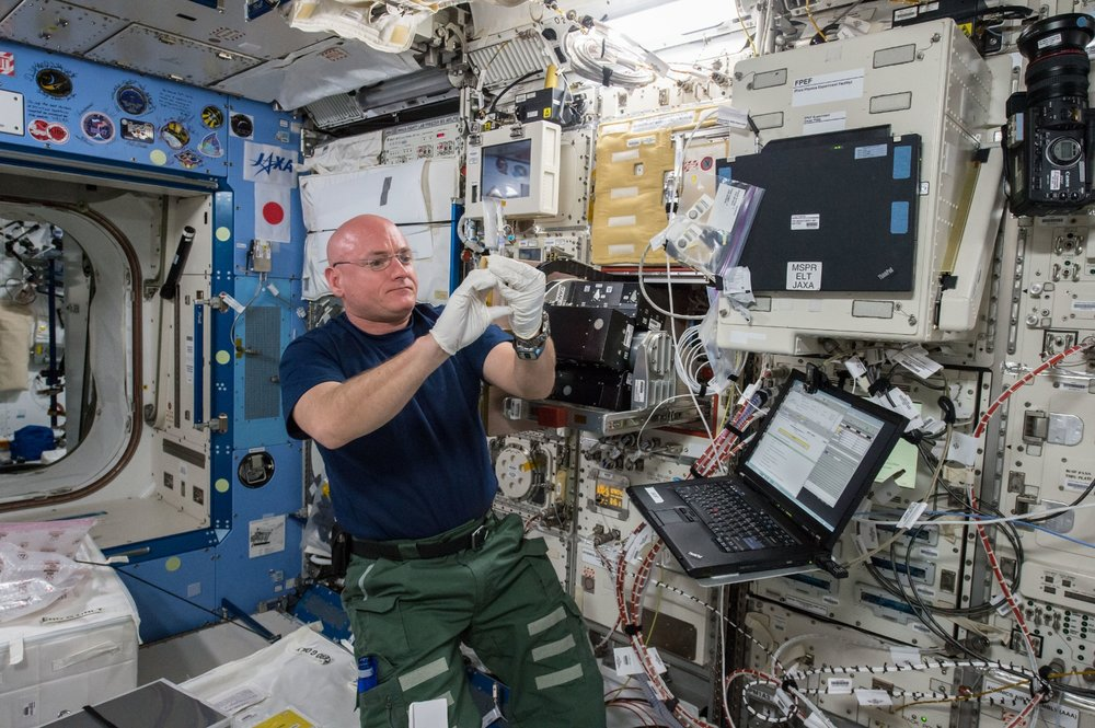 While Scott Kelly was living aboard the International Space Station for a whole year (March 2015 to 2016), he performed or was part of over 400 experiments. Many of those performed on his body will be researched for years to come, including data on his gut bacteria. Photo Credit: NASA