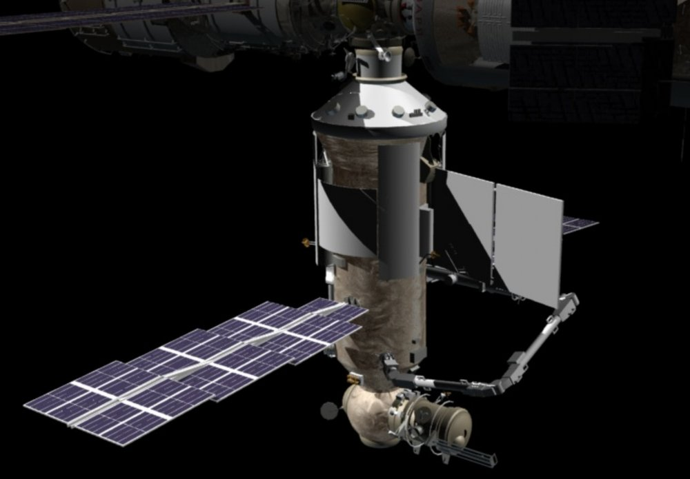 A 3-D rendering of the Nauka module. Image Credit: NASA