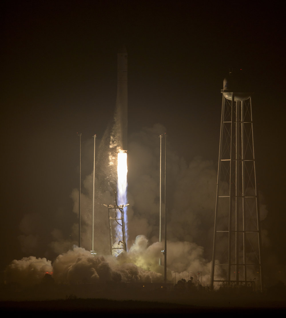 The Antares 230 rocket leaps off the pad carrying the OA-5 Cygnus cargo ship. Photo Credit: NASA