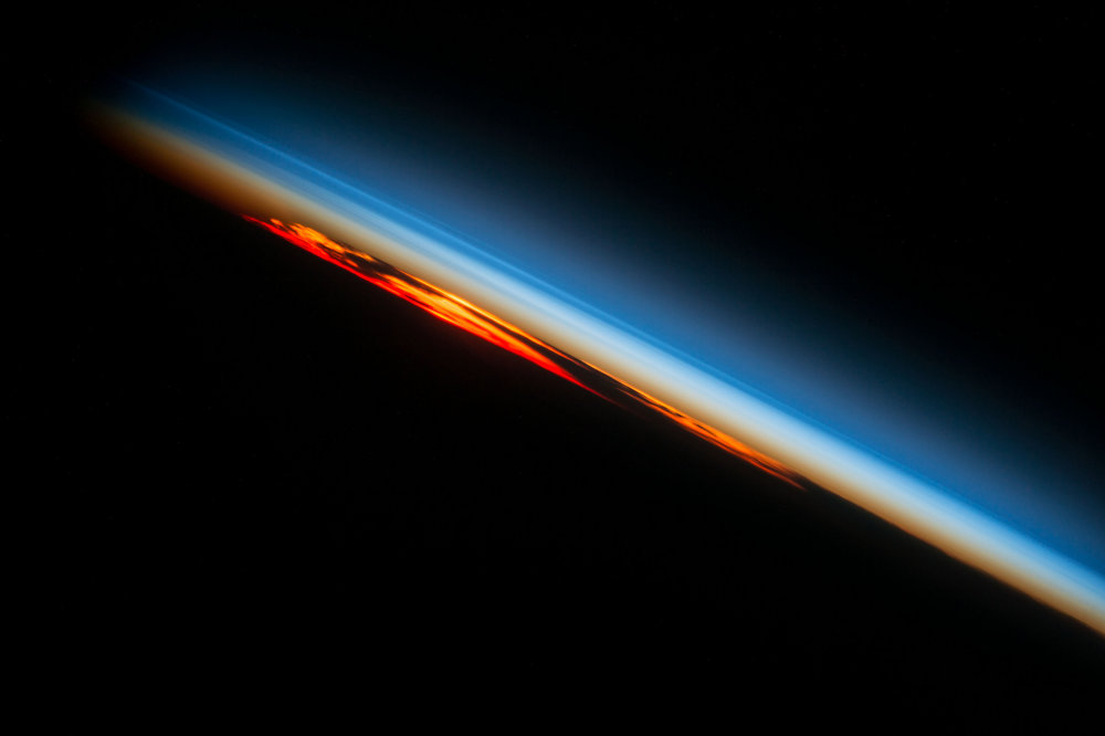 Sunset over the Atlantic Ocean as seen Oct. 27, 2016, from the International Space Station. Photo Credit: NASA