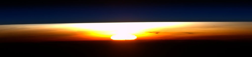 An orbital sunrise as seen by the International Space Station's crew. Photo Credit: NASA