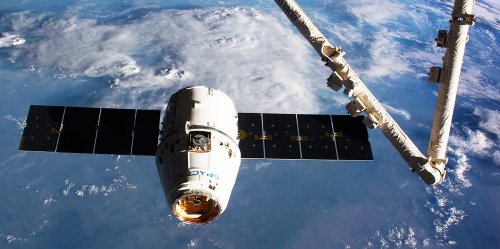 A file photo of SpaceX's CRS-10 Dragon cargo spacecraft during final approach to the International Space Station on Feb. 23, 2017. Photo Credit: NASA