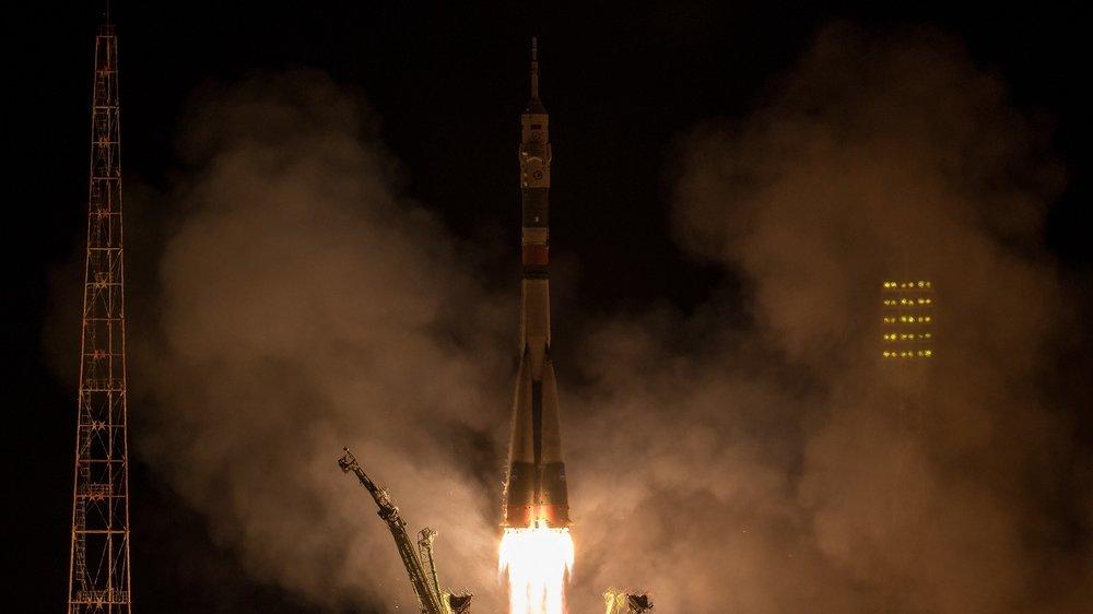 Soyuz MS-06 launches atop a Soyuz-FG rocket. Photo Credit: Bill Ingalls / NASA