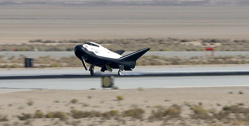 Sierra Nevada Corporation's Dream Chaser lands on a runway at Edwards Air Force Base in California after a successful free-flight test. Credit: Carla Thomas / NASA