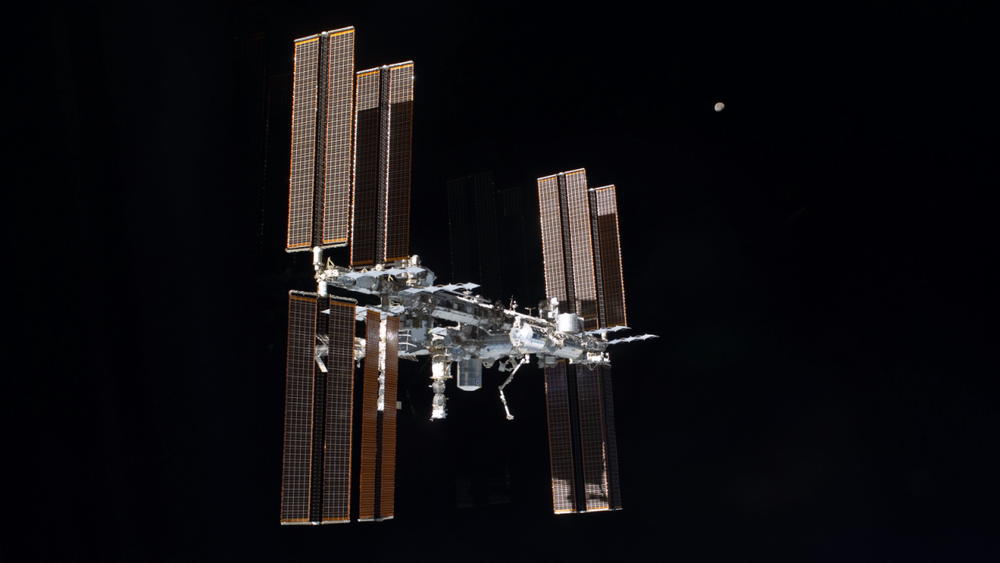 The ISS as seen from the final departing space shuttle mission in 2011, STS-135. Credit: NASA