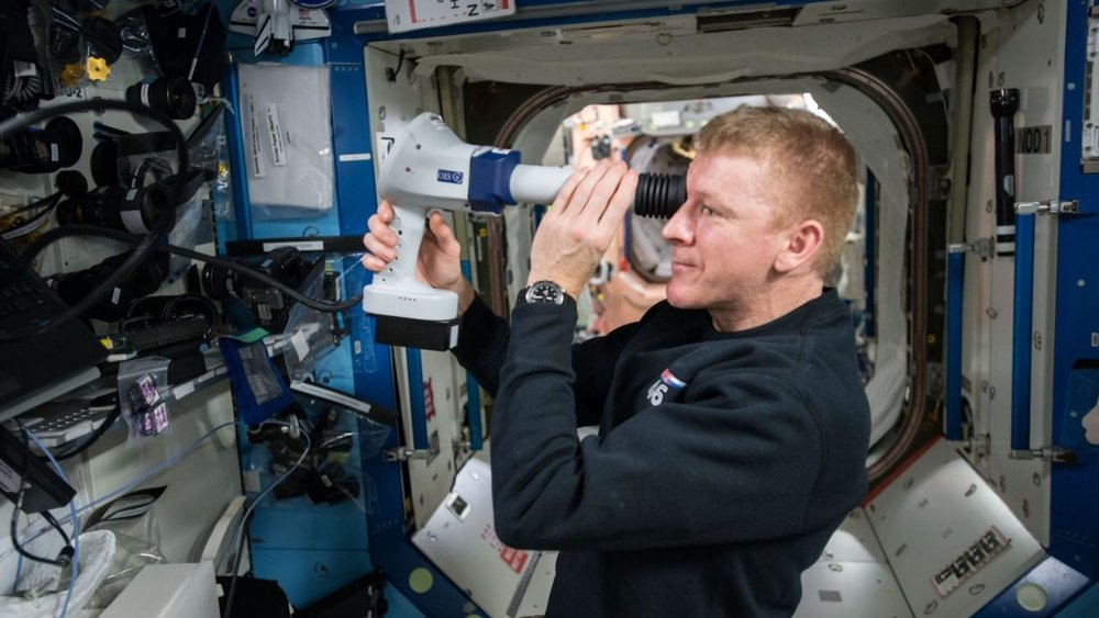 European Space Agency astronaut Tim Peake performs an exam on his eye as part of the ocular health study. This research will help in understanding why some astronauts and cosmonauts have vision problems after long-duration spaceflight. If humans are to regularly travel and stay beyond low-Earth orbit, this medical issue will likely need a countermeasure. Credit: NASA