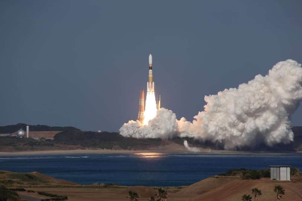 An H-IIB launches Kounotori 2. Credit: JAXA