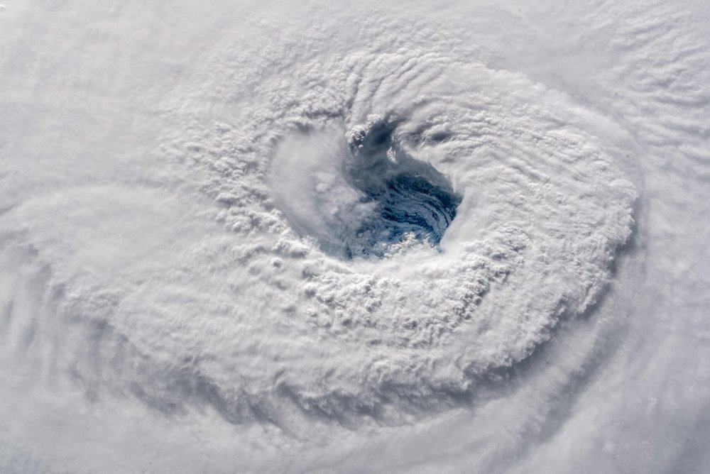The eye of Hurricane Florence. Credit: Alexander Gerst / ESA
