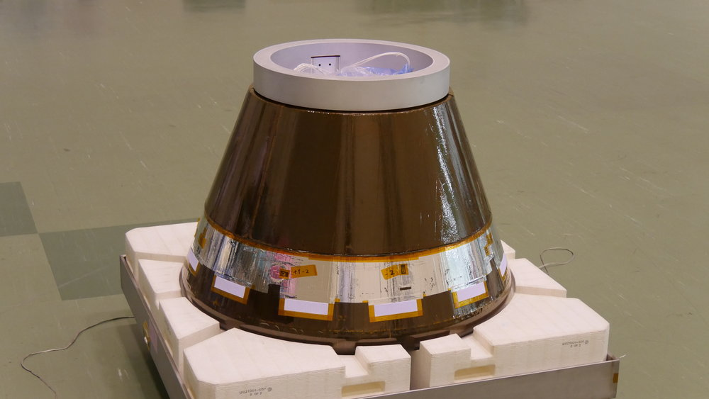 The HTV Small Re-Entry Capsule being sent to space aboard Kounotori 7: Credit: JAXA