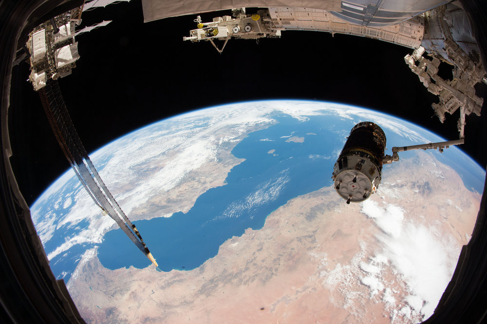 A file photo of HTV-5 being captured by the ISS crew in 2015. Kounotori 7 was successfully captured by Expedition 56 on Sept. 27, 2018. Credit: NASA
