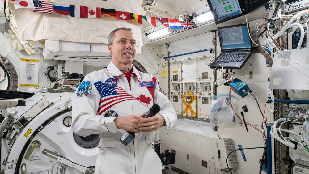 Commander Drew Feustel inside the Japanese Kibo module. Credit: NASA