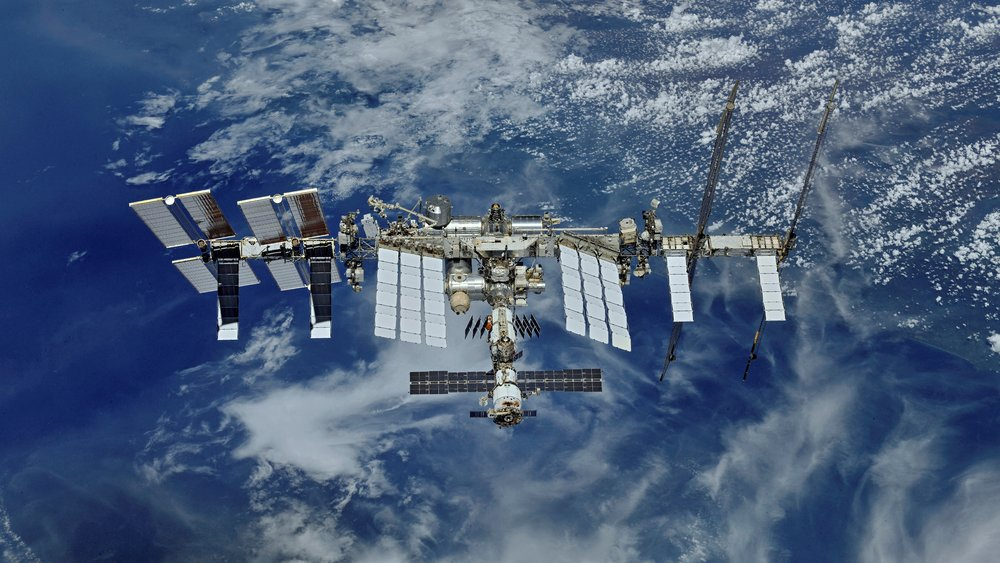 The International Space Station as seen by the departing Soyuz MS-08 crew in October 2018. Credit: NASA/Roscosmos