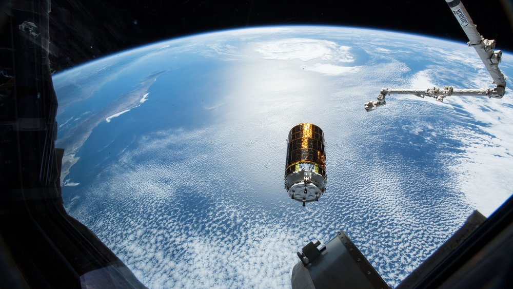 Kounotori 7 is released from the space station. Credit: NASA