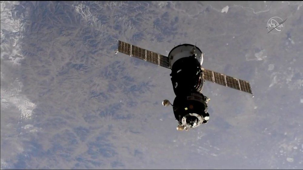 Soyuz MS-09 undocks from the ISS. Credit: NASA