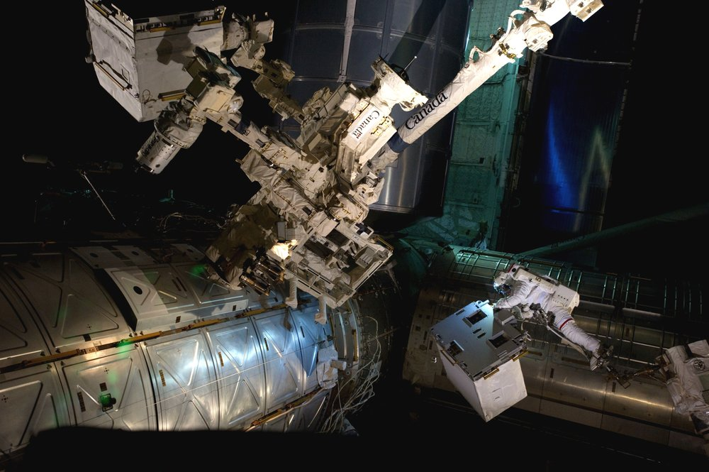 The original Robotics Refueling Mission was installed by astronauts aboard the final Space Shuttle mission in 2011. Credit: NASA